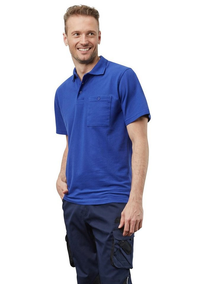 Pionier ® workwear Poloshirt-Piqué kurzarm in kornblau