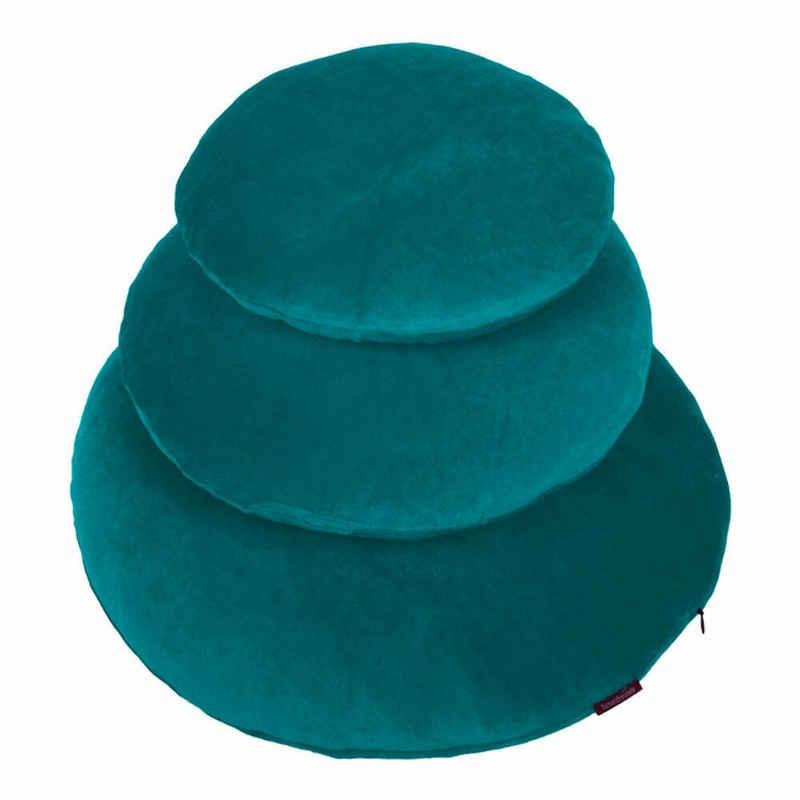 Kissenhülle »Rund Smaragd 50 cm«, Farbenfreunde (1 Stück)