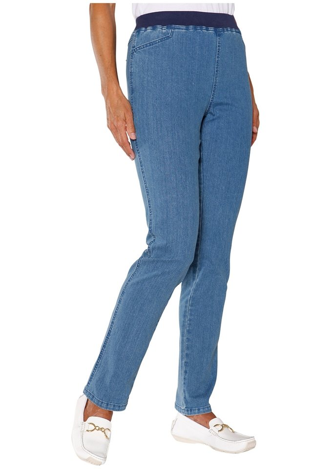 Classic Basics Hose mit hohem Tragekomfort in blue-bleached