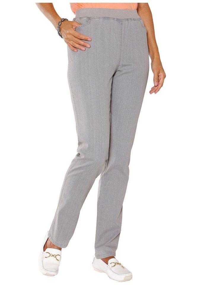 Classic Basics Hose mit hohem Tragekomfort in grey-denim
