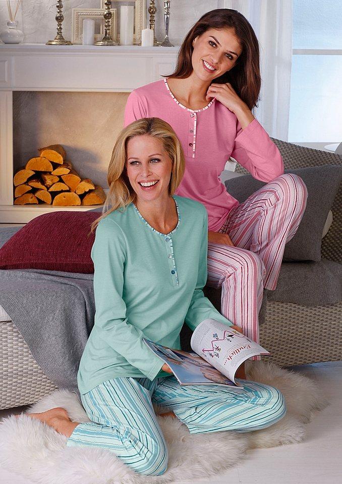 Schlafanzug, Ascafa (2 Stck.) in mint + rosé