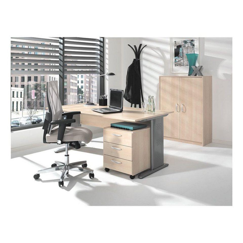 m bel set 3 teilig schreibtisch mit c fu adria otto. Black Bedroom Furniture Sets. Home Design Ideas