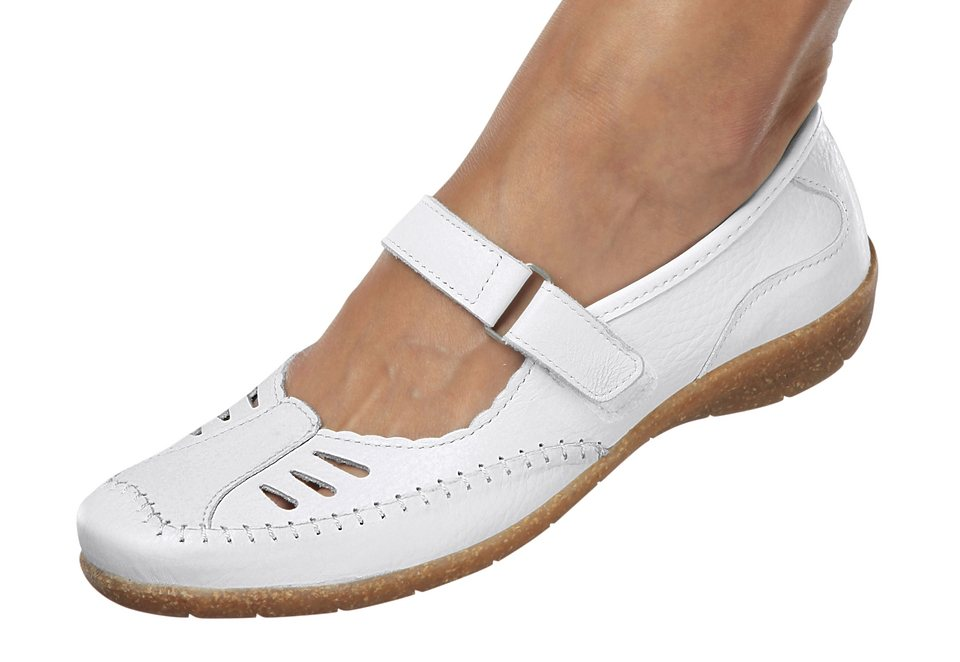 Slipper, Aco in weiß