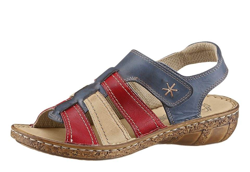 Sandale, Airsoft in blau-rot