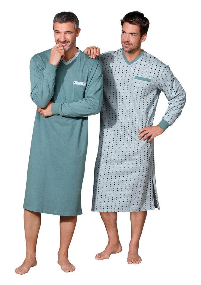Nachthemd, Kings Club (2 Stck.) in mint + mint-bedruckt