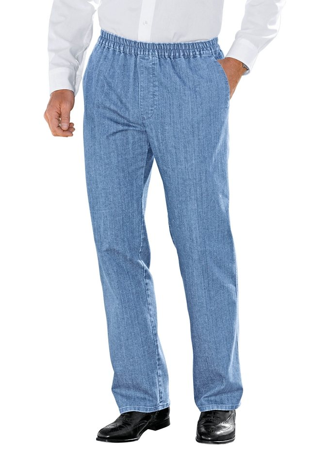 Brühl Jeans mit Dehnbund in blue-bleached