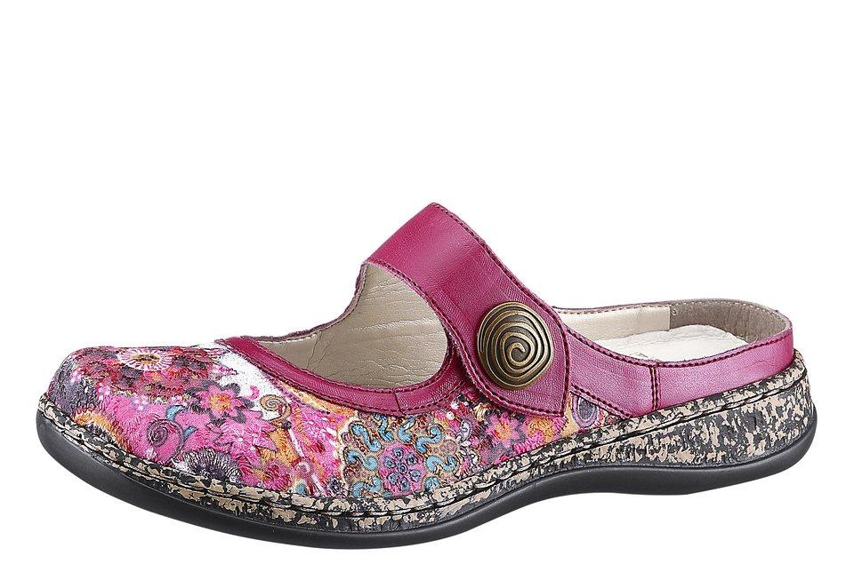 Rieker Sabot im sommerlichen Blumen-Dessin in pink