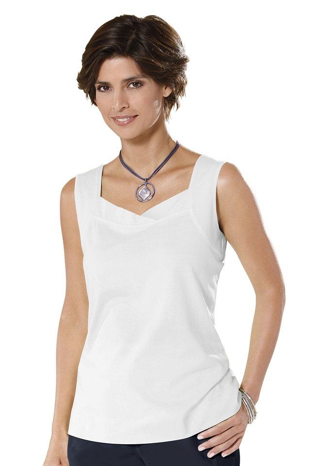Classic Basics Shirttop mit breiten Trägern in weiß