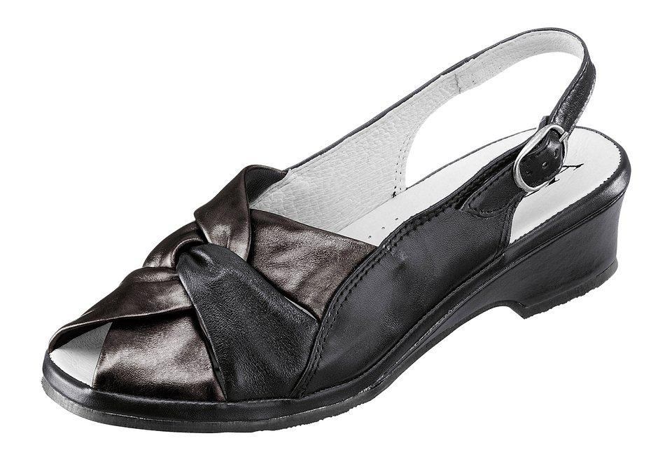 Aco Sandalette mit Perlmutt-Schimmer in schwarz