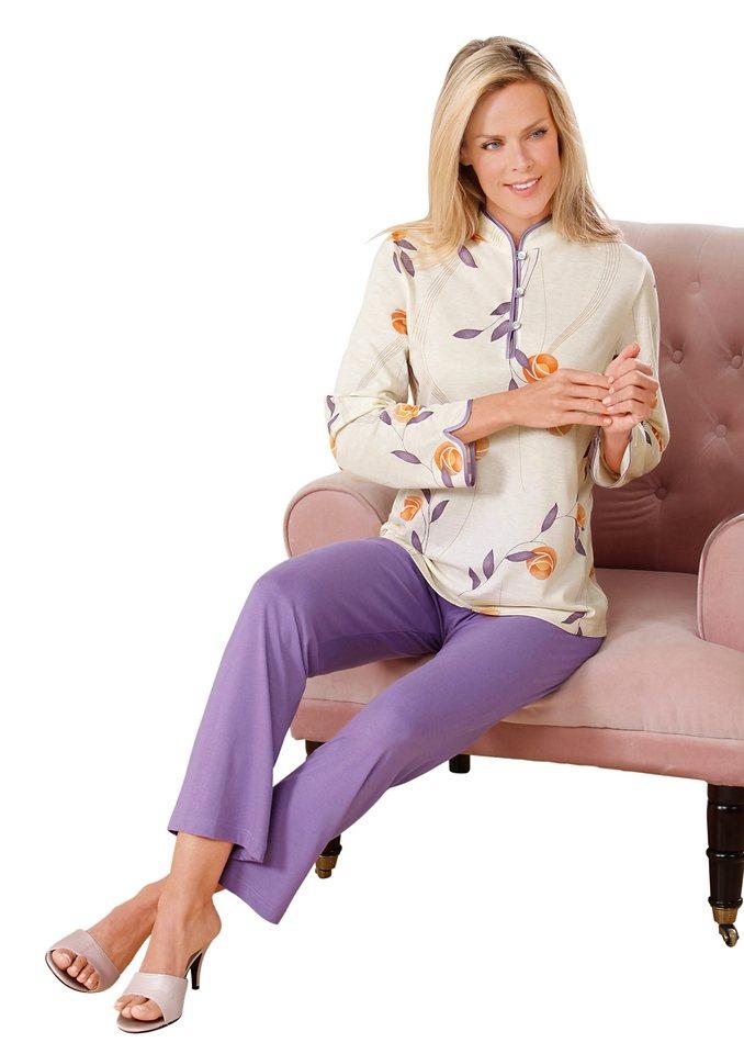 Schlafanzug, Ascafa in champagner-flieder