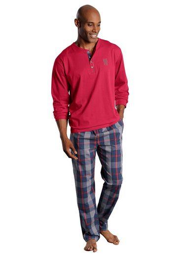 H.I.S Pyjama, aus Baumwolle mit Rundhalsausschnitt