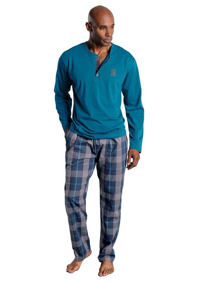 new products eacc7 74046 H.I.S Pyjama, aus Baumwolle mit Rundhalsausschnitt   OTTO