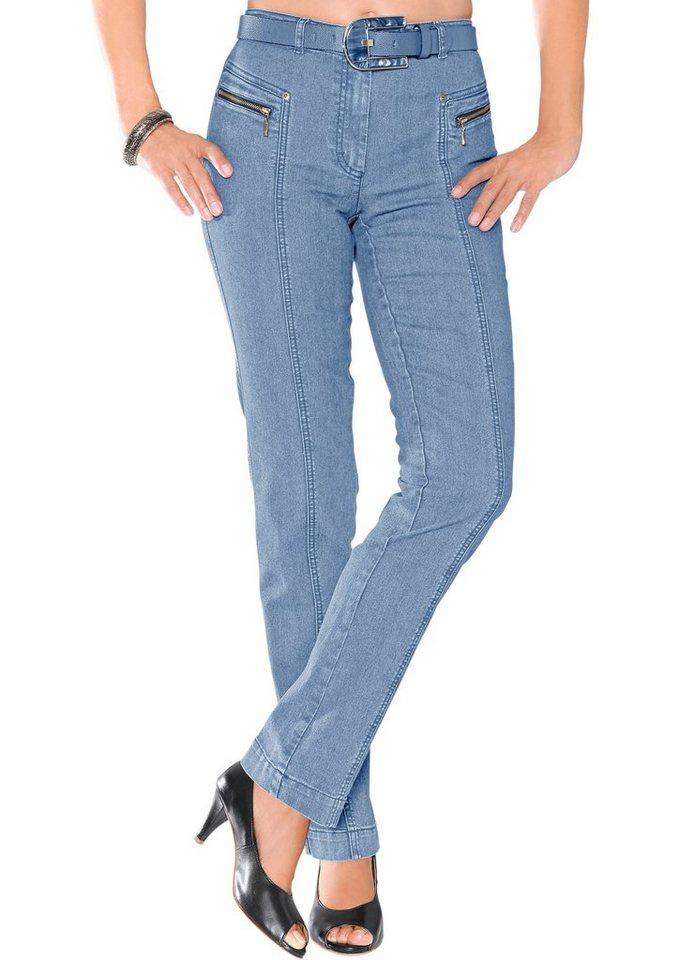 stehmann jeans mit optisch streckenden ziern hte otto. Black Bedroom Furniture Sets. Home Design Ideas