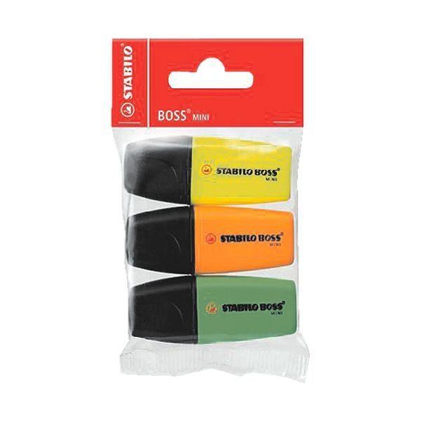 Stabilo 3er-Pack Textmarker »Mini«