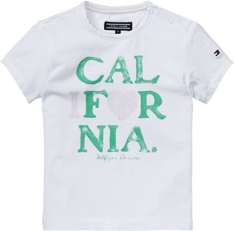 Tommy Hilfiger T-Shirt »CALIFORNIA MINI CN KNIT S/S« in white
