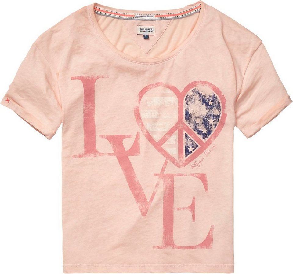 Hilfiger Denim T-Shirts »Sultry bn tee s/s« in TROPICAL PEACH