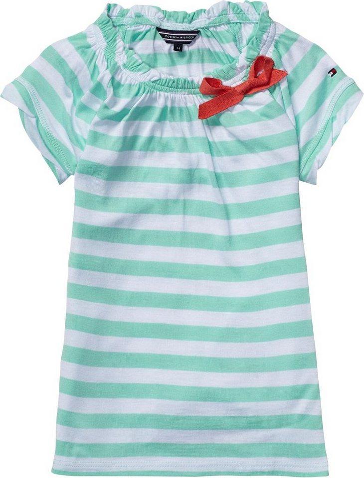 Tommy Hilfiger Kleid »JERSEY STRIPE MINI DRESS S/S« in CABBAGE