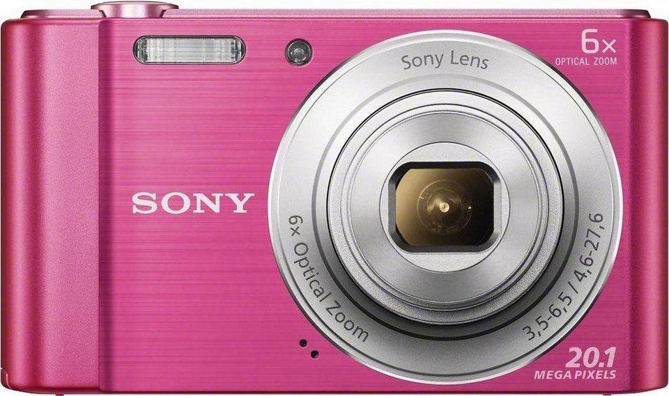 Sony Cyber-shot DSC-W810 Kompakt Kamera, 20,1 Megapixel, 6x opt. Zoom, 6,8 cm (2,7 Zoll) Display in pink