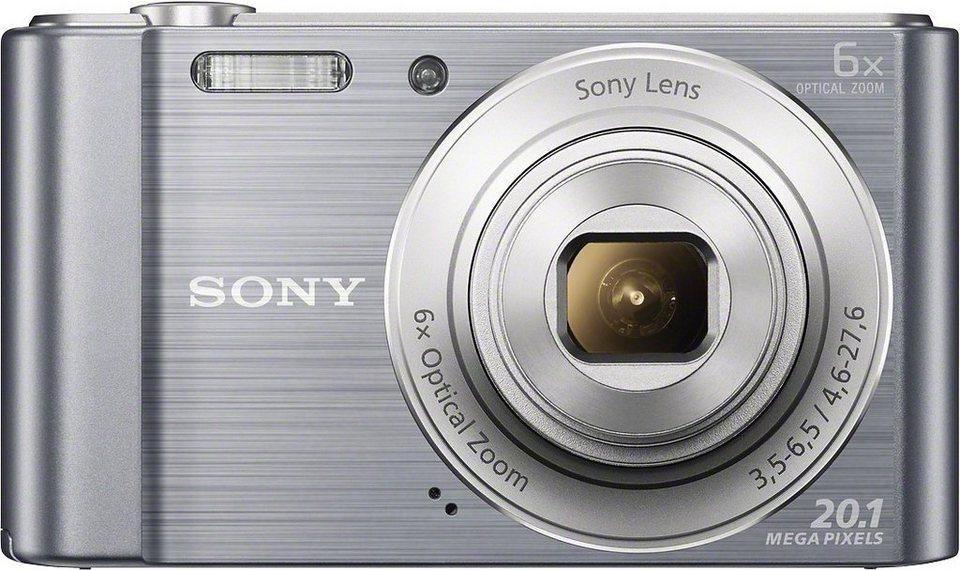 Sony Cyber-shot DSC-W810 Kompakt Kamera, 20,1 Megapixel, 6x opt. Zoom, 6,8 cm (2,7 Zoll) Display in silberfarben