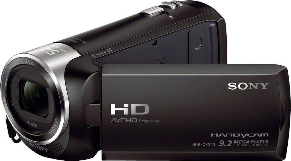 Sony HDR-CX240E Handycam ZEISS Weitwinkelobjektiv 1080p (Full HD) Camcorder in schwarz