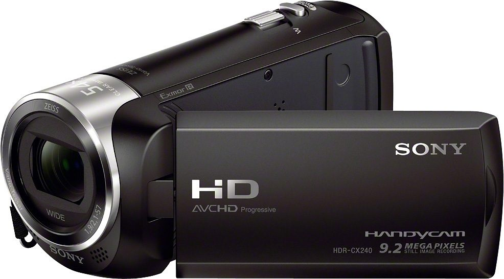 Sony HDR-CX240E Handycam ZEISS Weitwinkelobjektiv 1080p (Full HD) Camcorder