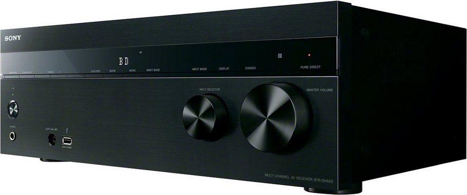 Sony STR-DH550 AV Receiver in Schwarz