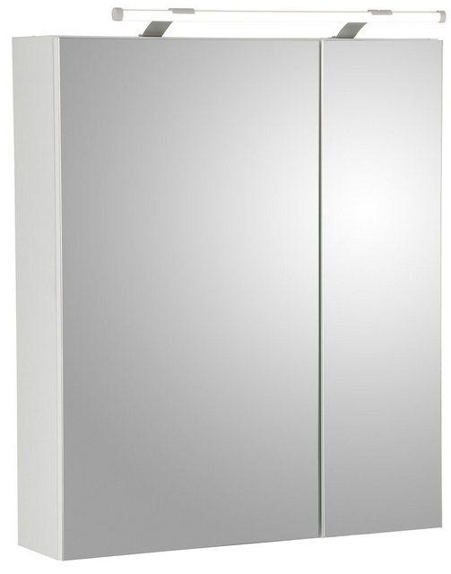 Spiegel - Schildmeyer Spiegelschrank »Dorina« Breite 60 cm, 2 türig, LED Beleuchtung, Schalter Steckdosenbox, Glaseinlegeböden, Made in Germany  - Onlineshop OTTO