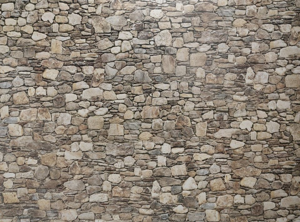 Wandtapete, EUROGRAPHICS, »Stein Optik« in grau