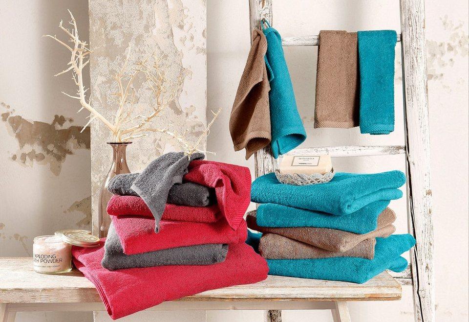 handtuch set my home lisa aus reiner baumwolle 7 tlg online kaufen otto. Black Bedroom Furniture Sets. Home Design Ideas