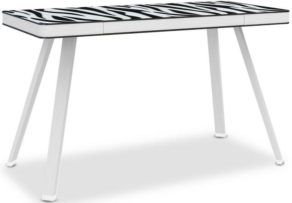 Jahnke Schreibtisch »Smart Desk« in Zebraglas/Alu