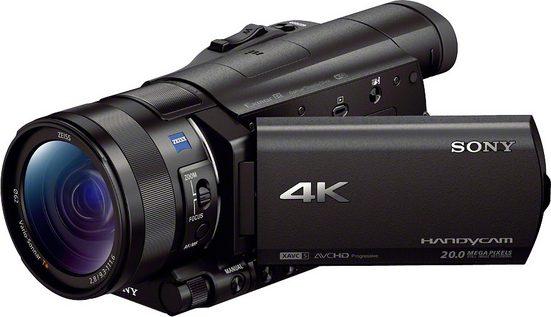 Sony »FDR-AX100« Camcorder (4K Ultra HD, NFC, WLAN (Wi-Fi), 12x opt. Zoom, Golf Shot, CinemaTone)