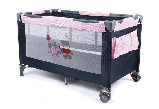 Babybetten - CHIC4BABY Beistellbett »Luxus Pink Checker«, inkl. Tragetasche  - Onlineshop OTTO