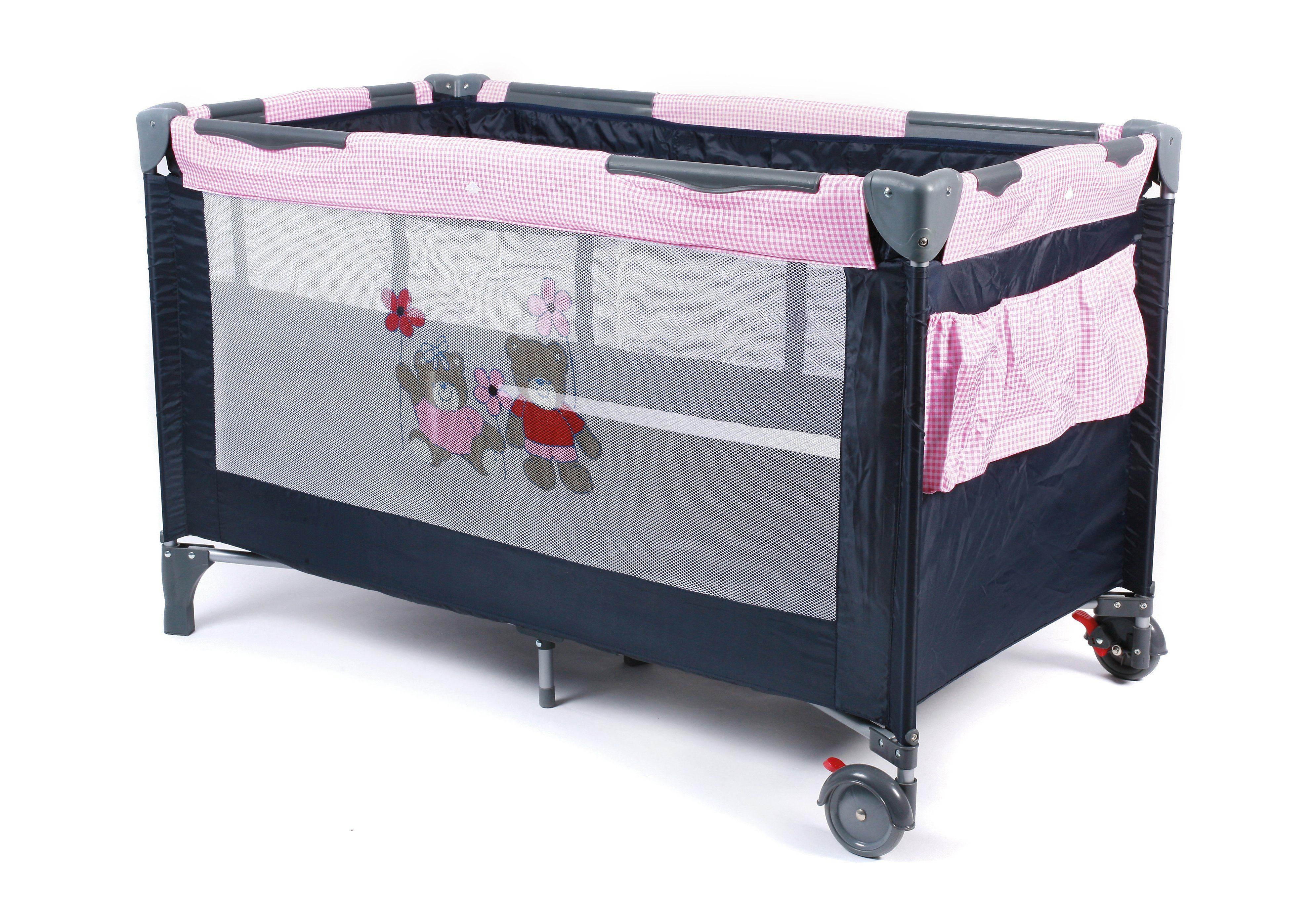 CHIC4BABY, Reisebett, inkl. Tragetasche, Pink Checker »Luxus«