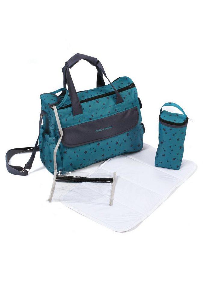 chic4baby wickeltasche mit umfangreicher ausstattung starlight aquamarine luxury online. Black Bedroom Furniture Sets. Home Design Ideas