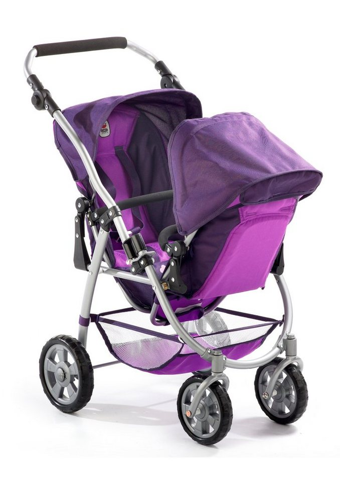 CHIC2000, Puppen-Tandem-Buggy, pflaume »VARIO« in lila