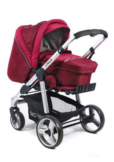 chic4baby alu kombi umsetzer kinderwagen mit festem rahmen starlight ruby red linus online. Black Bedroom Furniture Sets. Home Design Ideas