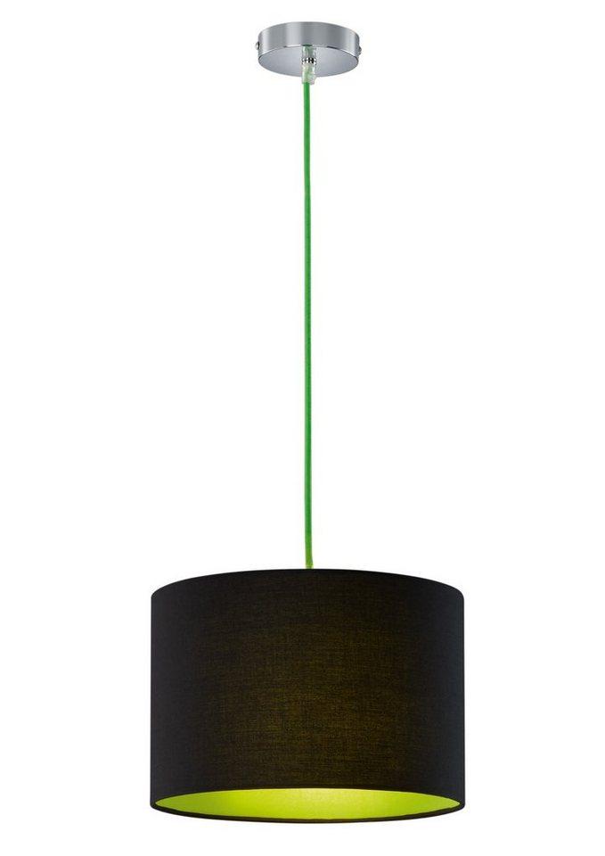 Pendellampe, in 3 Farben, Trio in schwarz/grün