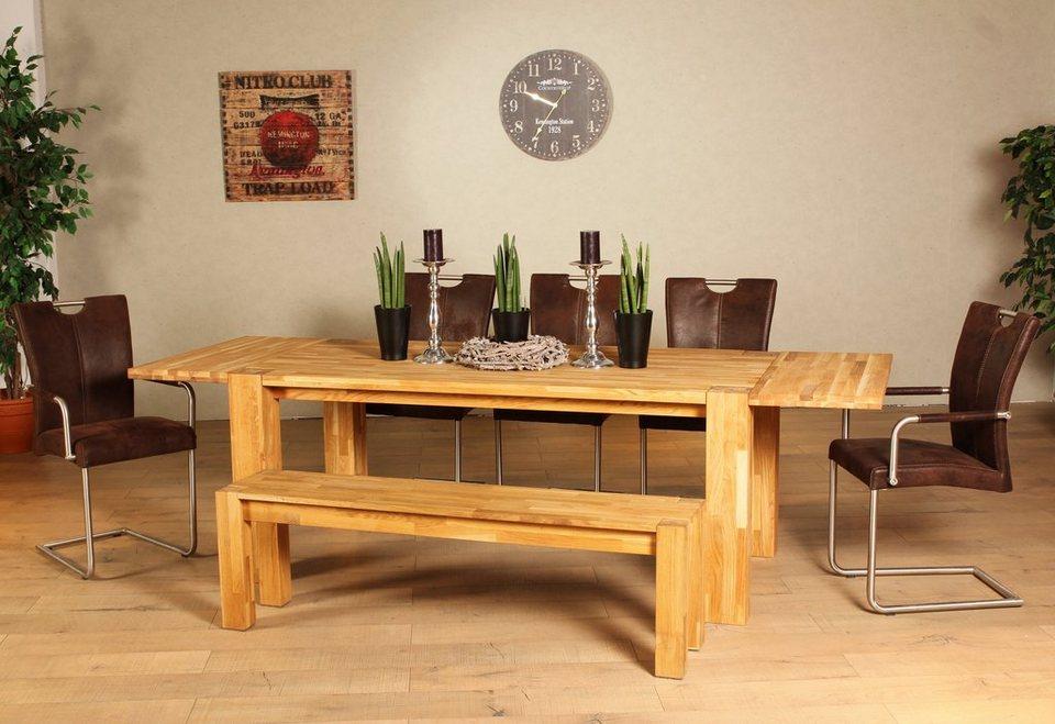 ansteckplatten premium collection by home affaire zu tisch bigoak 2 tlg online kaufen otto. Black Bedroom Furniture Sets. Home Design Ideas