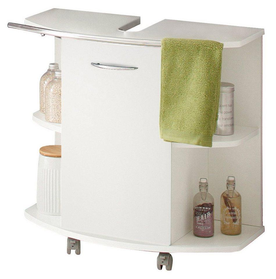 Waschbeckenunterschrank, Kesper, »Trent« in weiß-weiß