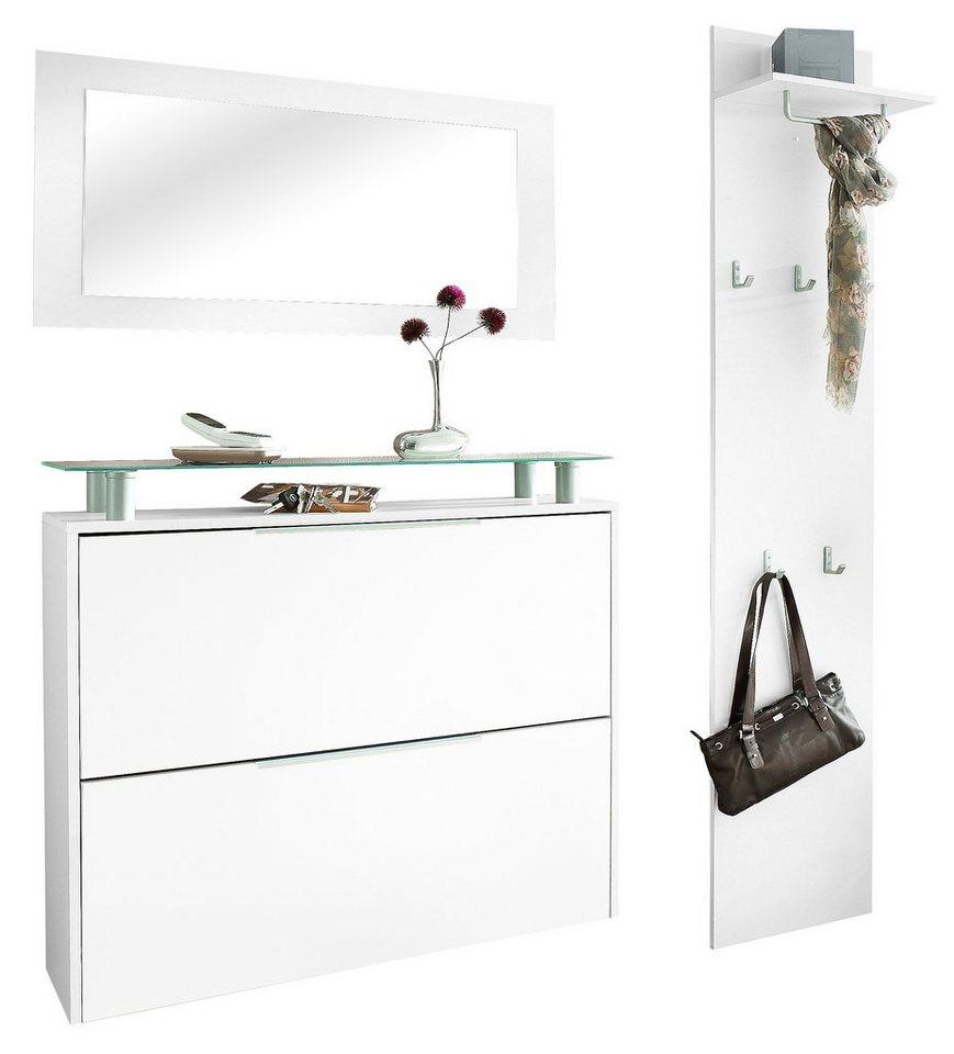 Garderoben-Set »Rena 2« (3-tlg.) in weiß-weiß matt