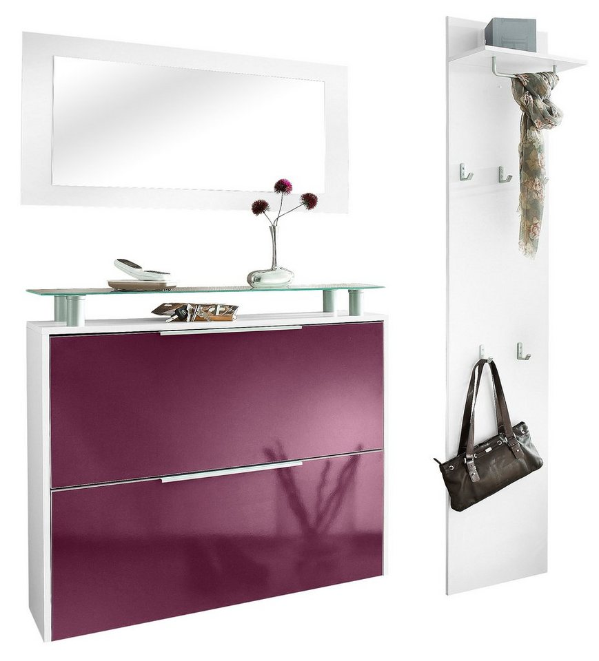 garderoben set rena 2 3 tlg mit glasablage otto. Black Bedroom Furniture Sets. Home Design Ideas