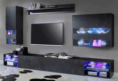 Wohnzimmerschrank In Schwarz Online Kaufen