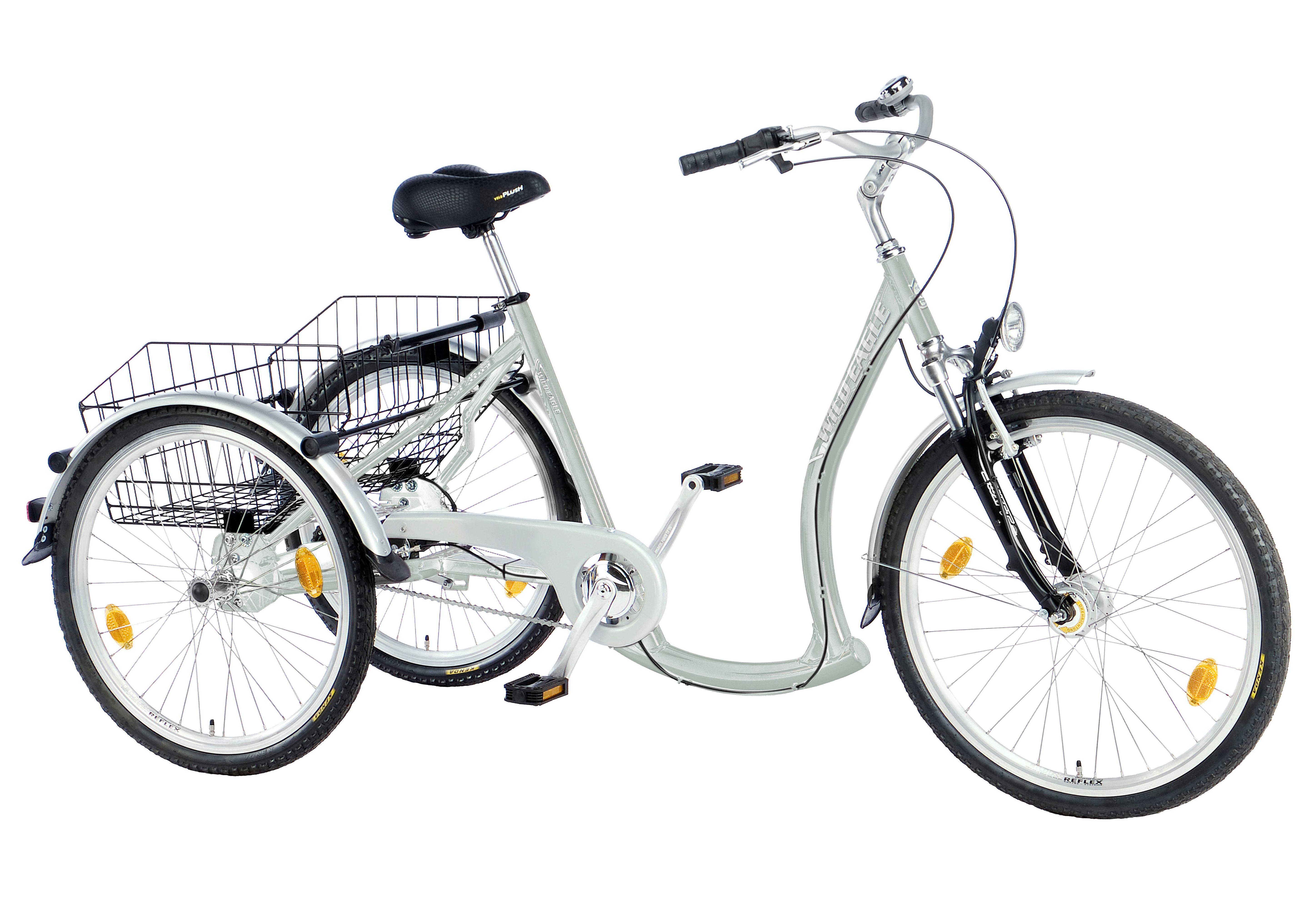 Dreirad, 3-Gang Shimano-Nexus-Nabenschaltung mit Rücktritt, »Luxus«, Trendmaxx