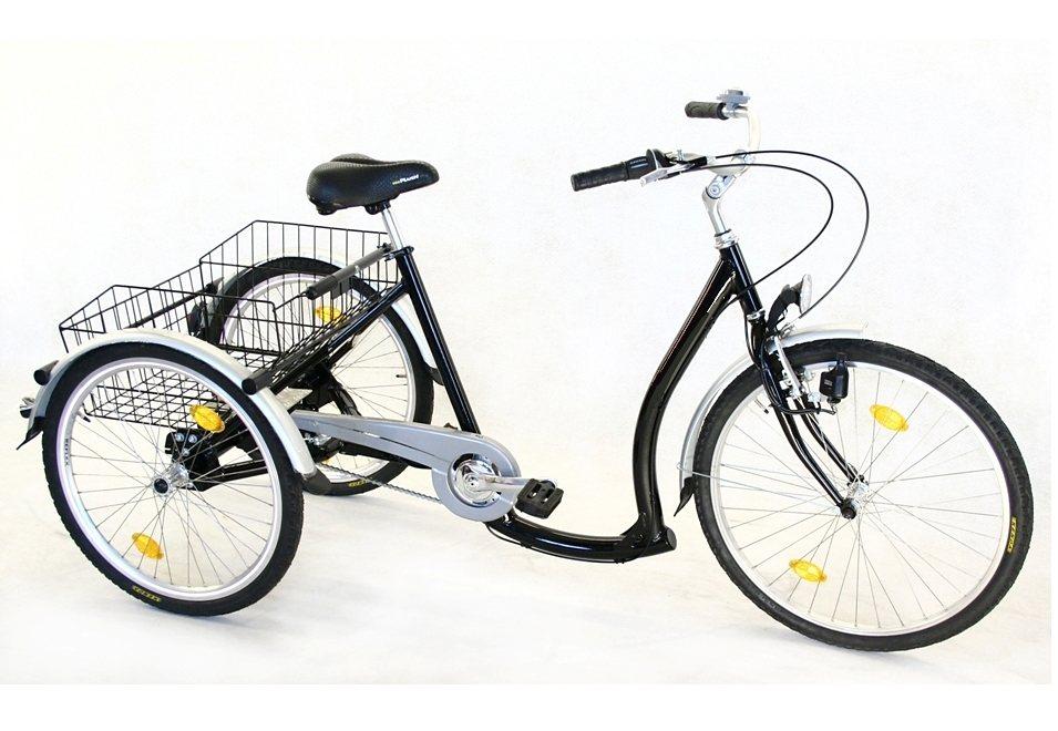 Dreirad, 3-Gang Shimano-Nexus-Nabenschaltung mit Rücktritt, »ECO«, Trendmaxx in schwarz