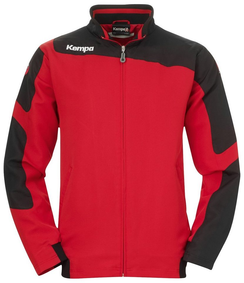 KEMPA Tribute Webjacke Kinder in rot / schwarz