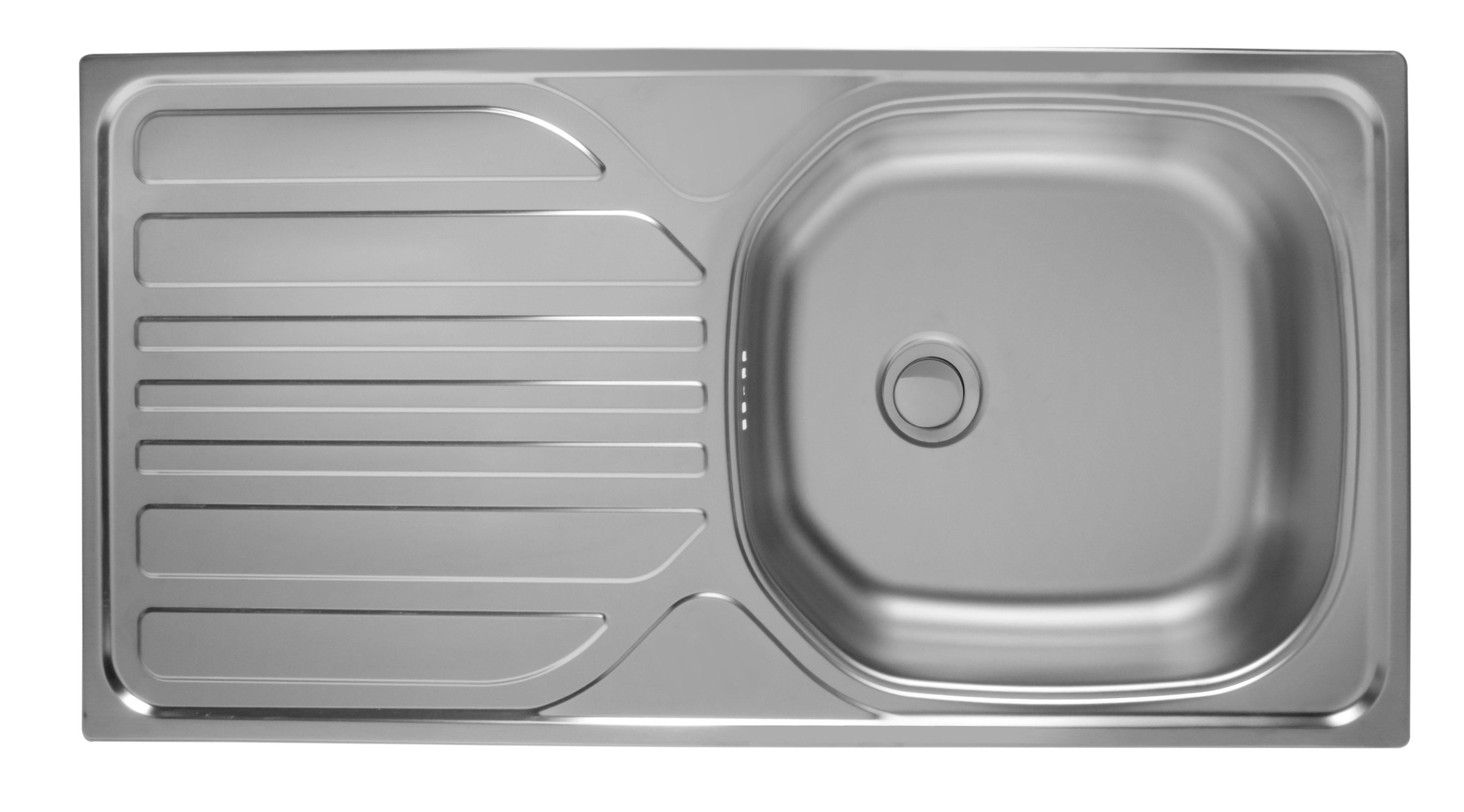 Edelstahlspüle »Fano«, 86 x 43,5 cm