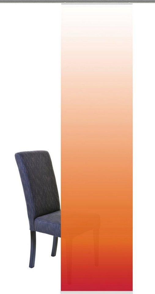 Schiebegardine, Home Wohnideen, »Madrid« (1 Stück mit Zubehör) in orange