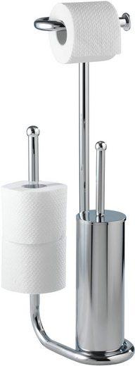 WC-Garnitur »Universalo Chrom«, WENKO, Standgarnitur mit Ersatzrollenhalter