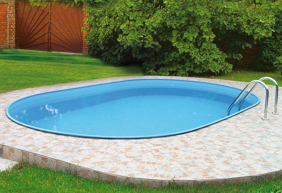 Set: Ovalpool »Premium«, 5-tlg., in 3 Größen in blau