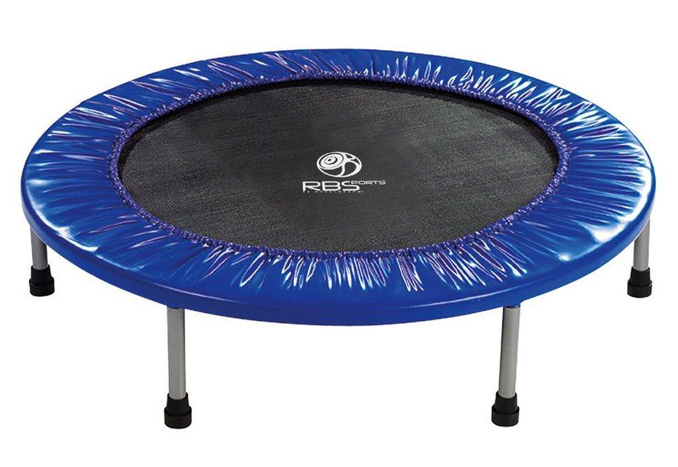 Fitnesstrampolin, Ø 100 cm, RBSports, zusammenklappbar in schwarz-blau